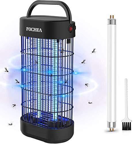 FOCHEA Insektenvernichter Elektrisch LED Insektenlampe Indoor Mückenfalle Insektenfalle UV Insektenvernichter mit UV-Licht, Effektive Bekämpfung von fliegenden Insekten, Um Mückenstiche zu Vermeiden