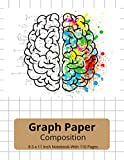 Brain Graph Paper Composition: Grid Notebook for Math and Science Students (8.5 x 11 Inch Notebook With 110 Pages)