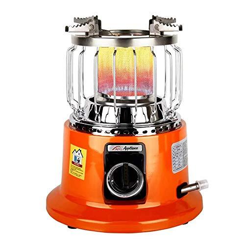 Ordioy Calentador Gas Pequeño para Acampar Al Aire Libre, Calentador Gas con Cubierta Malla Protectora Ajustable, Calentadores Gas Multifuncionales para Pesca En El Hielo En Casa,Liquefied Gas