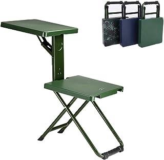 AHXF Sillas Pleglabes,Sillas Plegables Cocina,sillas Pleqables Comedor Comodas,con El Brazo De La Tableta con La Mano Derecha, 32 * 34 Cm, Cojinete De Carga: 150kg, (Color : Green)