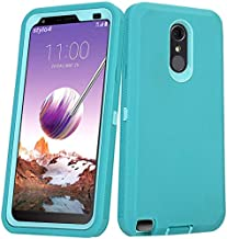Annymall Case for LG Stylo 3 Plus, Heavy Duty Shockproof Full-Body Protective Hybrid Case with Built-in Screen Protector for LG Stylo 3 / LG Stylo 3 Plus (Blue)