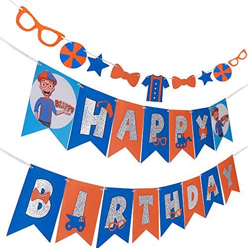 Blippi Happy Birthday Banner