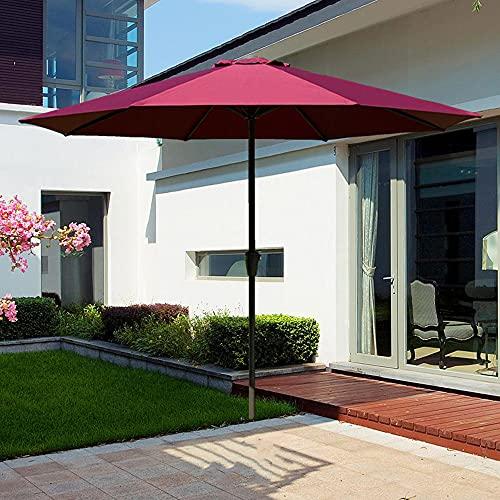 LKP Sombrilla De Jardín para Terraza, Sombrilla con Manivela De Patio, Protección UV, Sombrilla 270cm De Diámetro, para Exterior/Playa/Balcón