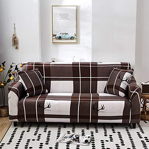 Fundas de sofá elásticas a cuadros para sala de estar, protector de muebles antideslizante, calidad duradera, resistente a las arrugas A10 2 plazas