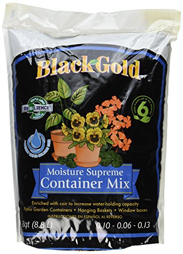 Sun Gro 1413000.Q08P 079017 Black Gold Moisture Supreme Container Mix with Resilenece