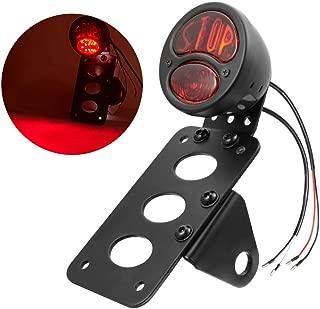 Amazicha License Plate Bracket LED Brake Tail Light Compatible for Harley Sporster Bobber Chopper