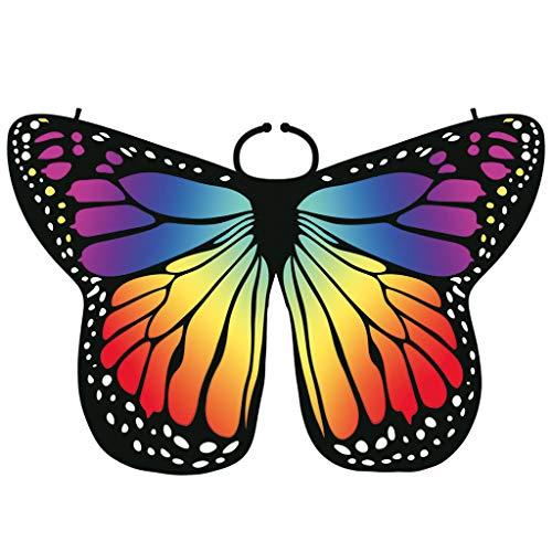SHE.White Damen Schmetterling Flügel Faschingkostüme Party Festtagsmode Butterfly Wings Flügel Cosplay Prinzessin Kostüm, Mehrere Farben und Größen