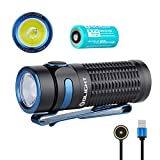 OLIGHT Baton 3 1200 Lumens CW LED IMR16340 Magnetic Rechargeable Side-Switch EDC Flashlight with Battery,Standard Edition(Black Without Charging Case)