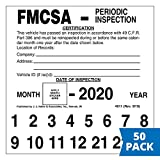 FMCSA Periodic Inspection Label 50-pk. - 5' x 5', Permanent Self Adhesive Vinyl - Meet DOT AVIR 49 CFR Part 396 Requirements - J. J. Keller & Associates