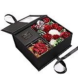 guoYL26sx Seifen-Rose und Amor geschnitzte Seife, Blume, Geschenk-Box, Aufbewahrung, Display, Blume,...