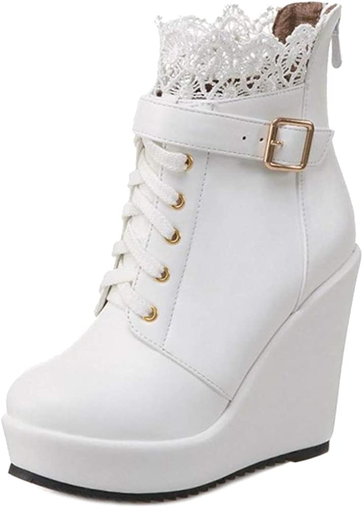 BeiaMina Fashion In stock Women Ankle Boots Heels Heel Albuquerque Mall Martin Wedge
