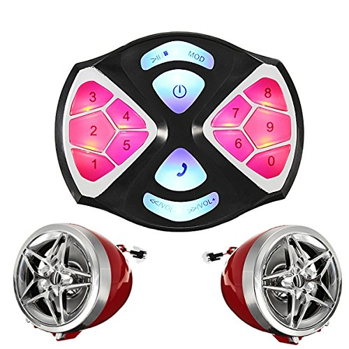ILS 12V ATV Motorcycle MP3-speler FM Speaker Alarm System Waterproof met Bluetooth-functie