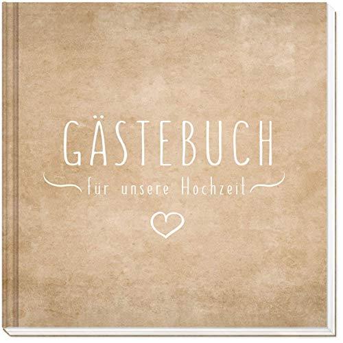 Sophies Kartenwelt Gästebuch Hochzeit - Hochwertiges Hardcover / 144 weiße Seiten / 21 x 21...