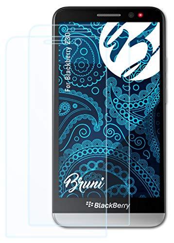 Bruni Schutzfolie kompatibel mit BlackBerry Z30 Folie, glasklare Bildschirmschutzfolie (2X)