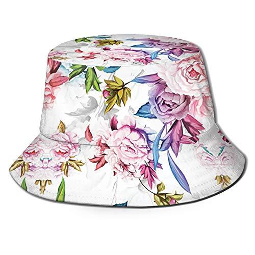 Cute Bucket Hat for Girls Cool Print Beach Hats Women Reversible Sun Hats Unisex Perfect for Outdoor Activities Rose