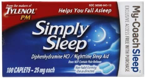 Tylenol Simply Sleep List price Tab 100ct Excellent