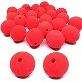 dancepandas Clown-Nase, 25 x Rote Nase Schaumstoff Nase für Fasching Karneval oder andere...