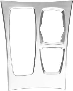 KIMISS Aufkleber für Schaltgetriebe, verchromte Galvanik Zentralkonsole, Getriebe Abdeckung, Aufkleber für X5 X6 E70 E71 08–14