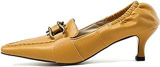 Kaizi Karzi Women Elegant Square Toe Pumps Mid Heel
