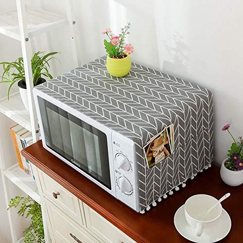 Copertura antipolvere per forno a microonde, accessorio protettivo per forno a microonde, decorazione per la casa, panno anti-olio per forno Freccia grigia