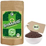 Bio Keimsprossen Brokkoli (Sorte Rabe) zum Keimen - 500g - verlässlich hoher Sulforaphangehalt - kurze Keimzeit - für leckere, vitalstoffreiche, frische Sprossen & Keimlinge