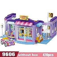 Llsdls 新しい都市ガールフレンドシリーズビルディングブロックモダンドリームプリンセスガールショップセット子供の贈り物のための教育レンガのおもちゃ ( Color : 9606 without box )