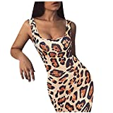 Dresses for Women Sexy,Women's Bodycon Sleeveless Dress Basic Midi Club Dresses Tie Dye Print Strappy Bustier Cami Dress