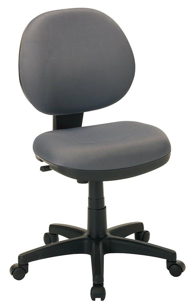 演じるモチーフ葉っぱナカバヤシ クッションチェア オフィスチェア デスクチェア 椅子 グレー RZC-293GY