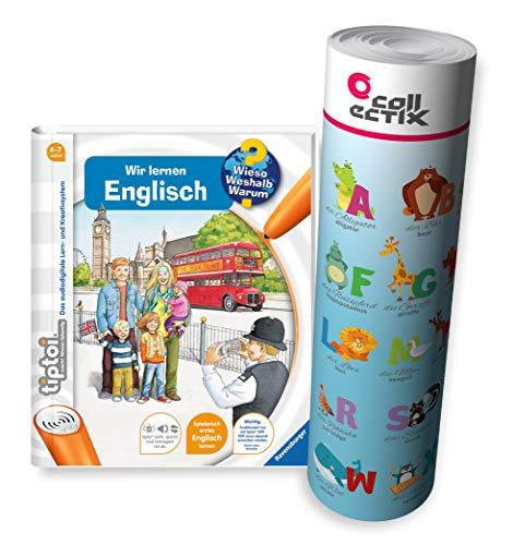 Collectix Ravensburger tiptoi Engels boek | Wij leren Engels + kinderen letters posters - leren dieren in het Engels.