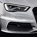 Pour pare-chocs avant de style S3 Phare antibrouillard Grilles Gloss Noir pour Audi A3 S-Line 8V Pre-facelift 2013 2014 2015 2016,black