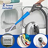 LALASTAR Dryer Vent Cleaner Kit, Universal Dryer Vent Cleaning Kit, Vacuum Hose Attachment Brush Lint Remover, 2 Hoses Included