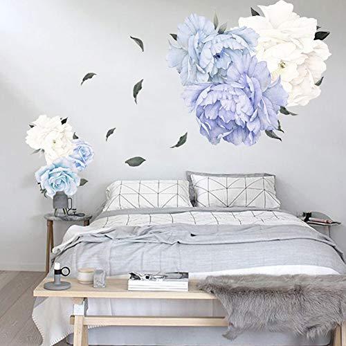 Steellwingsf Selbstklebende Wand Aufkleber Blume Pfingstrose Schlafzimmer Wohnzimmer Wandbild Aufkleber Dekor