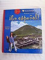 ?En espa?ol! Texas: Teacher Edition Level 1 2005 0618433104 Book Cover