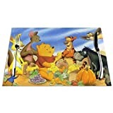 Winnie The Pooh Clubhouse Placemats for Dining Table Set of 6 Heat Insulation Stain Resistant Placemats Durable Cross Weave Woven Kitchen Table Mats Placemat