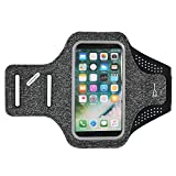 5.5' Universal Cell Phone Running Armband Compatible for Samsung Galaxy S10+ S9+ / Apple iPhone 11 Pro Max/XS Max/Motorola G7 Plus/LG G8 ThinQ/Huawei P30 Pro/BlackBerry KEY2 / OnePlus 7