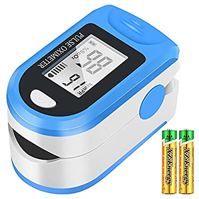 Pulse Oximeter,Oximeter NHS Approved Uk,Oxygen Saturation Monitor Measures Pulse Rate and SpO2 Levels,Portable Finger Pulse Oximeter with OLED Display for Adult Child(Batteries Included)