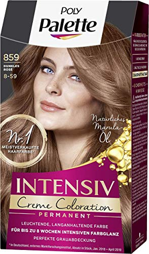 SCHWARZKOPF POLY PALETTE Intensiv Creme Coloration 859/8-59 Dunkles Rosé, 3er Pack (3 x 115 ml)