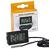 Teichpoint digitales LCD Thermometer mit Sonde TPM-10 schwarz, für Ihr Aquarium, Terrarium, Vivarium, Gartenteich oder Gewächshaus