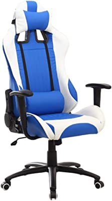 NBgy Video Game Chairs E-Sports Chair, Office Chair, Racing Style Seat, Adjustable Headrest, Swivel Seat, Suitable for Hotel Office Bedroom, Home Game Chair, 3 Colors (Height: 126-134cm)