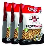 Pasta proteica Sedani 3 paquetes (3 x 250 g) Alto contenido de proteínas (60%) Ciao Carb