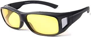 Night Vision Glasses Driving for Men Women anti glare Polarized HD Night Glasses Wrap Around Prescription Eyewear