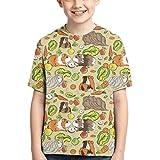 Camisetas para niños Conejillos de Indias Comida para Mascotas Camiseta de Manga Corta