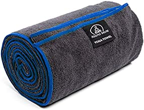 Asana Mate Microfiber Yoga Towel 26 x 72 Non Slip Hot Yoga Mat Towel - Soft and Absorbent Gym Towels for Hot Yoga, Pilates, Workouts, Exercises…