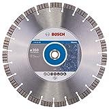 Bosch Professional Diamanttrennscheibe (für extrem hartes Gestein, Ø: 350 mm, Zubehör für Tisch- und Benzinmotorsägen)