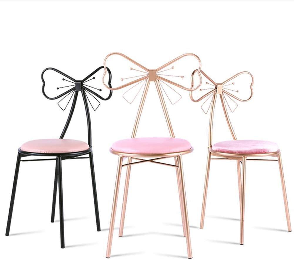 Chaise Fauteuil Siège Chaises Chair Bow Arrière en Aluminium Pieds De Chaise Empilable Anti-dérapant Tapis De Renfort Support Restaurant Bureau Ménage FENPING (Couleur : D) A
