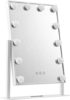 Maxkon Makeup Mirror 12 LED Lights Hollywood Style Vanity Mirror w/Touch Control