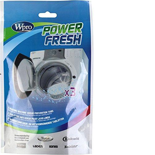 Wpro AFR300 Power Fresh 3 Tablettes Anti-Odeur pour Lave Linge