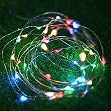 BAGZY Stringa Luci LED Batteria Catena Luminosa 4m 40 LED con Filo Rame Ghirlanda Luminosa Lucine Impermeabile Decorative da Interni Esterni per Camere da Letto Giardino Casa Feste Natale Matrimonio