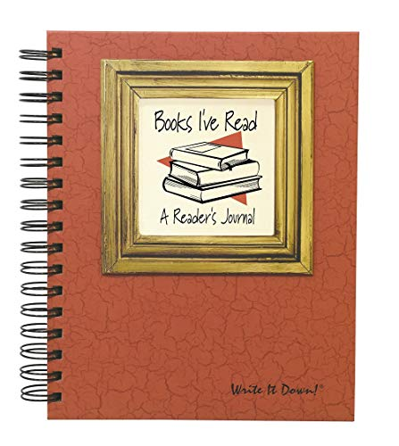 """Journals Unlimited """"Write it Down!"""" Series Guided Journal, Books I've Read, A Readers Journal, with an Orange Hard Cover, Made of Recycled Materials, 7.5""""x 9"""""""