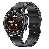 HQPCAHL Smartwatch Orologio per Android iOS con Cardiofrequenzimetro Monitoraggio della Temperatura Cutanea Sonno Pressione Sanguigna Chiamata Bluetooth Sfondo Fai da Te, 10 modalità Sport,Black b